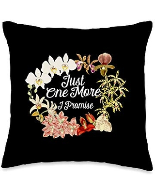 Orchid Lover Shirt Orchid Flower Gift Just One Promise Gift for Orchid Lovers Throw Pillow, 16x16, Multicolor