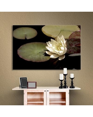 "Alcott Hill 'Waterlily I' Gallery by Linda Parker Photographic Print on Wrapped Canvas ALCT3564 Size: 24"" H x 32"" W"