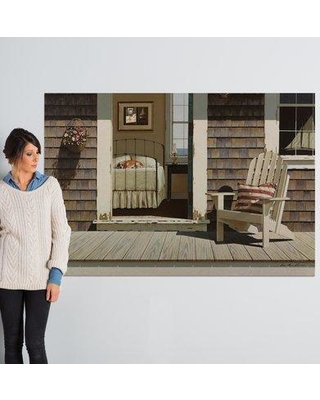 """East Urban Home Bedroom Dog Painting Print on Wrapped Canvas ESTP0864 Size: 40"""" H x 60"""" W x 1.5"""" D"""