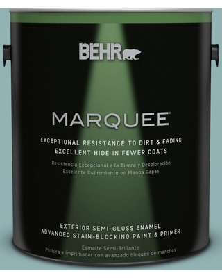 BEHR MARQUEE 1 gal. #500F-5 Gulf Winds Semi-Gloss Enamel Exterior Paint and Primer in One