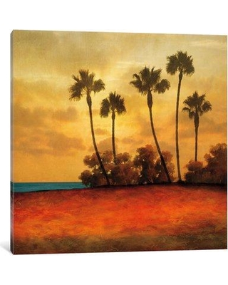 "East Urban Home 'Las Palmas I' Painting Print on Canvas ESUR7702 Size: 18"" H x 18"" W x 1.5"" D"