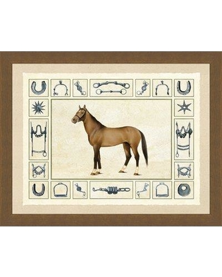 Alcott Hill 'Horse and Horse Bits II' Framed Graphic Art Print ALTH5777