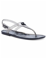 Coach Women's Natalee Jelly Thong Sandals - Black