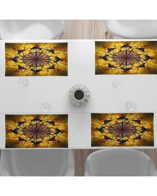 """East Urban Home 18.5"""" Placemat, Polyester in Brown, Size 12""""H X 18""""W 