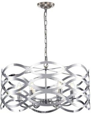 Find Big Savings On Wrought Studio Hidalgo 6 Light Candle Style Drum Chandelier Metal In Chrome Size 11 H X 24 W X 24 D Wayfair B6236f95ec2743a99546dabac68d681b