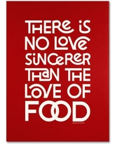 "Trademark Art 'Sincere Love of Food II' Textual Art on Wrapped Canvas MR0103-C Size: 19"" H x 14"" W x 2"" D"