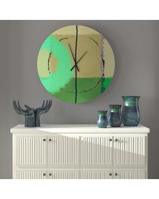 East Urban Home Oversized Gaia Wall Clock X113537083 Size: Large