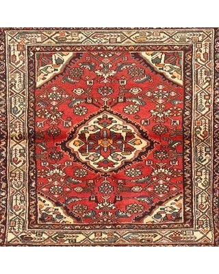 Bloomsbury Market Polemoine Traditional Red/Beige/Brown Area Rug X112035925 Rug Size: Square 4'