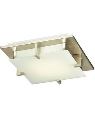 Ivy Bronx Altha 1-Light LED Flush Mount W000752041 Finish: Satin Nickel