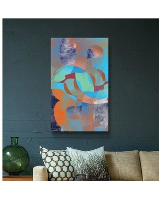 """East Urban Home 'Geometric 16' Framed Graphic Art Print on Canvas W000304986 Size: 18"""" H x 12"""" W x 2"""" D Format: Wrapped Canvas"""