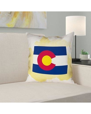 Don T Miss Sales On East Urban Home Brumit Colorado Flag Pillow In Poly Twill Double Sided Print Throw Pillow Polyester Polyfill Polyester Polyester Blend Wayfair