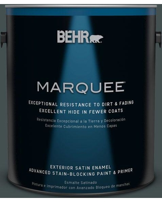 BEHR MARQUEE 1 gal. Home Decorators Collection #HDC-WR16-05 Evergreen Field Satin Enamel Exterior Paint & Primer
