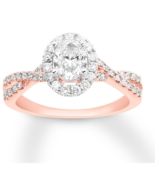 Jared Diamond Engagement Ring 7/8 ct tw Oval-cut 14K Rose Gold