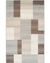 SUPERIOR Clifton Mid-Century Modern Geometric Polypropylene Indoor Area Rug or Runner with Jute Backing, 4' X 6', Multi-Colored