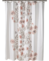 """Blooms Flat Weave Shower Curtain (72""""x72"""") Coral - Threshold"""