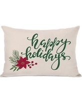 The Holiday Aisle Happy Holidays Lumbar Pillow THLA7075