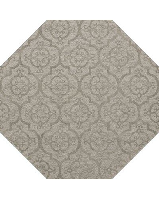 Rosdorf Park Beverly Machine Woven Wool Silver Area Rug W001587537 Rug Size: Octagon 4'
