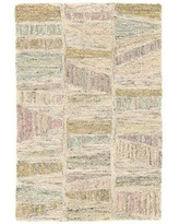 Dash and Albert Rugs Geode Hand-Hooked Ivory/Light Pink/Light Blue Area RugWool in White, Size 36.0 H x 24.0 W x 0.25 D in | Wayfair DA1102-23