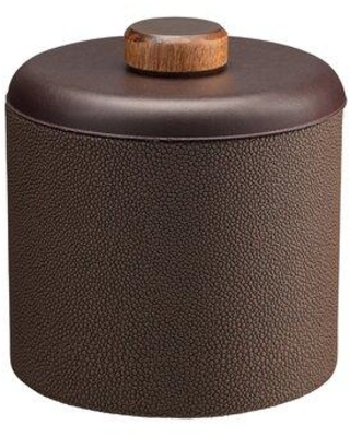 "Erwyn Shagreen Ice Bucket Set of 12, Stainless Steel in Abyss/Black, Size 8.5"" H x 7.75"" W x 7.75"" D 