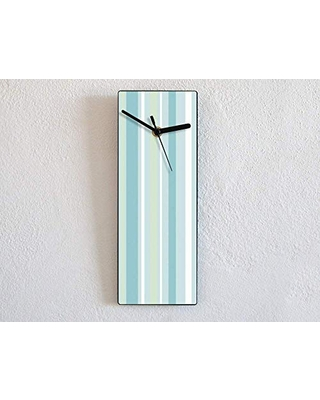 Blue Lines Pattern - Wall Clock