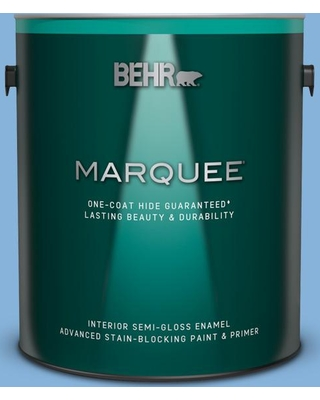 BEHR MARQUEE 1 gal. #570B-4 Bayou Semi-Gloss Enamel Interior Paint and Primer in One