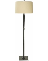 Natural Light Round Up Floor Lamp with Linen Drum Shade
