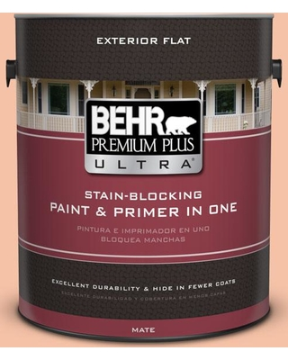 Don T Miss These Deals On Behr Ultra 1 Gal 240c 3 Peach Damask Flat Exterior Paint And Primer In One
