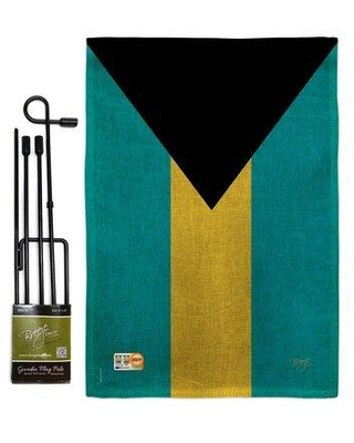 Find The Best Deals On Breeze Decor Bahamas The World Nationality Impressions 2 Sided Burlap 19 X 13 In Flag Set In Green Black Wayfair Bd Cy Gs 108341 Ip Db D Us15 Bd