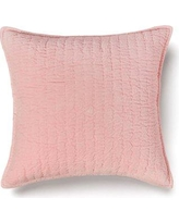 Amity Home Evan 100% Cotton Throw Pillow CC630 Color: Velvet Pink