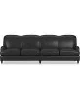 "Bedford 108"" Sofa, Down Cushion, Italian Distressed Leather, Wolf"