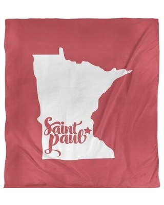 East Urban Home Saint Paul Minnesota Duvet Cover - Brushed Polyester EBJI1760 Size: Queen Duvet Cover Color: Red Fabric: Brushed Polyester