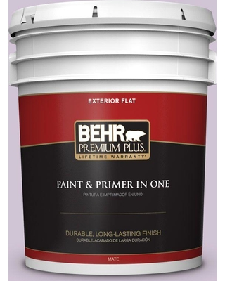 BEHR Premium Plus 5 gal. #M100-2 Seedless Grape Flat Exterior Paint and Primer in One