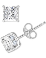 TruMiracle Diamond Princess Stud Earrings (3/4 ct. t.w.) in 14k White Gold, Gold or Rose Gold