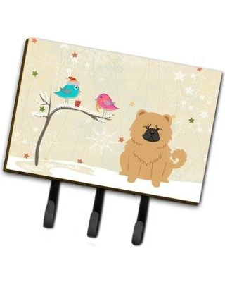 The Holiday Aisle Christmas Presents Between Friends Chow Chow Leash or Key Holder THLA3658 Color: Cream