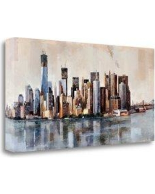 """Tangletown Fine Art 'New York From Afar' Print on Wrapped Canvas CABMP353-2915c Size: 20"""" H x 39"""" W"""