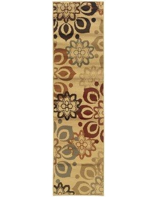 World Menagerie Arshan Casual Beige Area Rug W000060863 Rug Size: Runner 2' x 8'