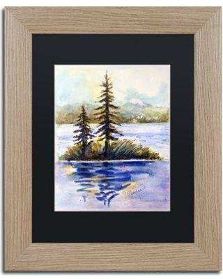"Trademark Art 'Island Light' by Wendra Framed Painting Print WL037-T1 Matte Color: Black Size: 20"" H x 16"" W x 0.5"" D"