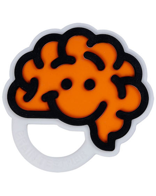 Brain Teether - Orange - Baby Toys & Gifts for Ages 0 to 1 - Fat Brain Toys