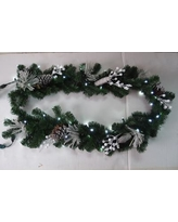 Queens of Christmas Flocked Garland WL-GARFL6-WC-PW
