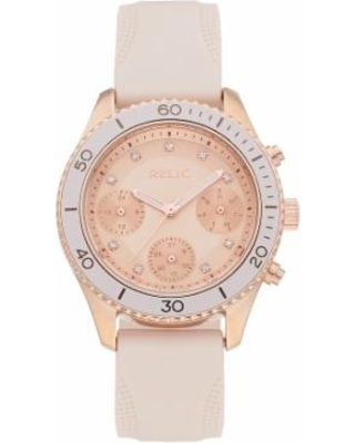Relic by Fossil Women's Jean Crystal Accent Watch, Size: Medium, Pink