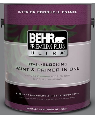 BEHR Premium Plus Ultra 1 gal. #T12-10 Game Over Eggshell Enamel Interior Paint and Primer in One