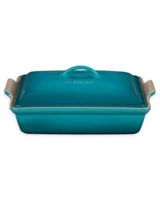 Le Creuset® Heritage 4 qt. Rectangular Covered Casserole Dish in Caribbean