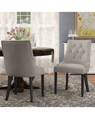 Darby Home Co Wilkinson Upholstered Dining Chair DABY6492 Color: Steel Gray