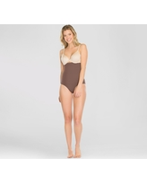 Assets by Spanx Women's Remarkable Results High Waist Midtone - Chestnut Brown 1X