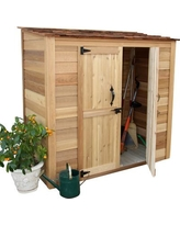 Outdoor Living Today Garden Chalet 6 ft. W x 3 ft. D Wooden Lean-To Tool Shed GGC63SR