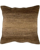"""Williston Forge Cortes Wool Throw Pillow WLFR5601 Size: 20"""" H x 20"""" W x 4"""" D, Color: Chocolate"""