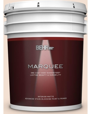 BEHR MARQUEE 5 gal. #240E-1 Muffin Mix Matte Interior Paint and Primer in One