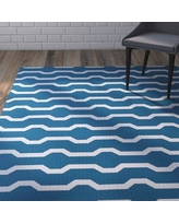 Wrought Studio Uresti Decorative Holiday Geometric Print Turquoise Woven Indoor/Outdoor Area Rug VRKG4472 Rug Size: Rectangle 2' x 3'