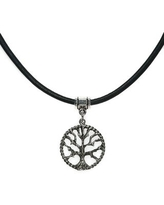 Handmade Jewelry by Dawn Tree Of Life Leather Necklace (USA) (24 Inch)