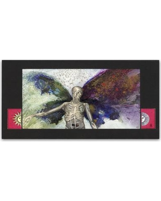 """Trademark Fine Art 'Skeleton' by Nick Bantock Graphic Art on Wrapped Canvas ALI2221-C Size: 10"""" H x 19"""" W x 2"""" D"""